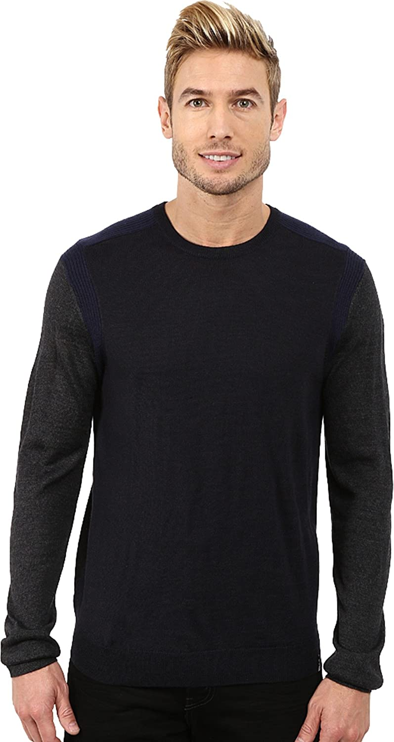 Calvin Super beauty product restock quality top! Klein Men's Max 87% OFF Merino Crew Detail with Sweater Rib