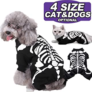 AMENON Halloween Costumes Pets Dogs Cats Bat Wings Skeleton Spider Pets Costume for Small Medium Large Dogs Halloween Party Pet Shirt Cosplay Hoodies Dress Up Funny Pet Clothes Kitten Puppy Apparel