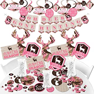 Best pink camo baby shower decorations Reviews