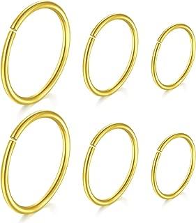 Mejor Gold Piercing Hoops de 2020 - Mejor valorados y revisados