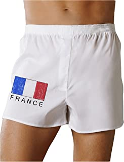French Flag - France Text Distressed Boxers Shorts