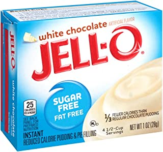 JELLO White Chocolate Instant PuddIng & Pie Filling Mix (1oz Boxes, Pack of 6)