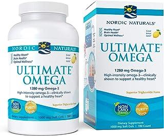 Nordic Naturals Ultimate Omega, 1280Mg Sabor Limón - 180 Cápsulas Blandas 180 Unidades 310 g