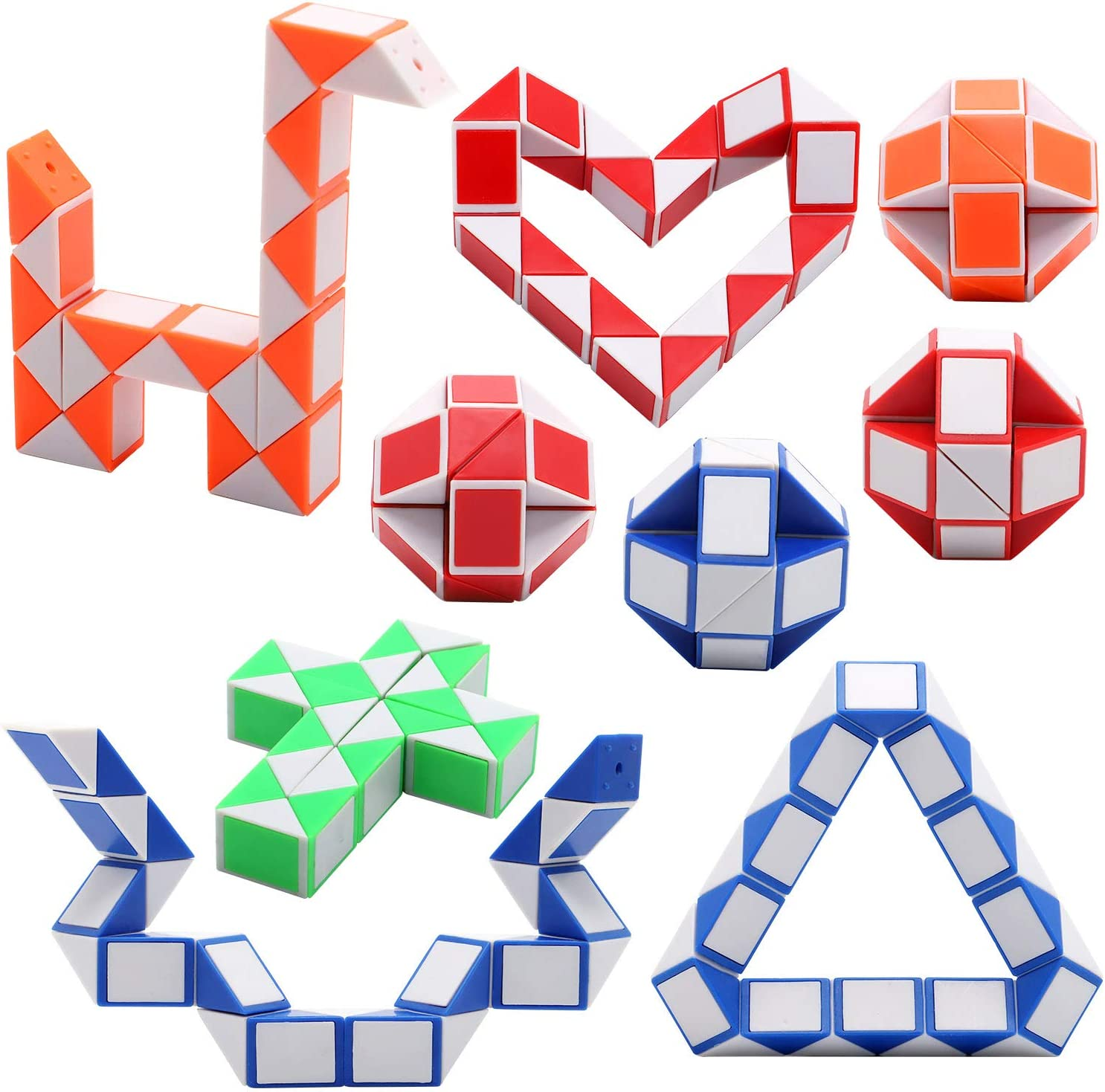 3pcs Children Kids Plastic 24 Magic Cubes Intelligence Educational Puzzle Toy