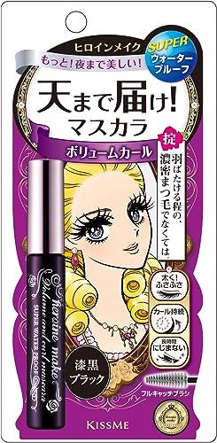 Heroine Make Volume and Curl Mascara Super Waterproof - 01 Super Black for Women 0.21 oz Mascara, 6 g