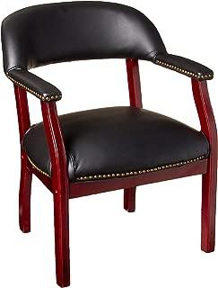 Boss Captain's Chair In Black Vinyl