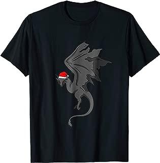 Christmas Dragon T-Shirt with Santa Claus Hat Dragons