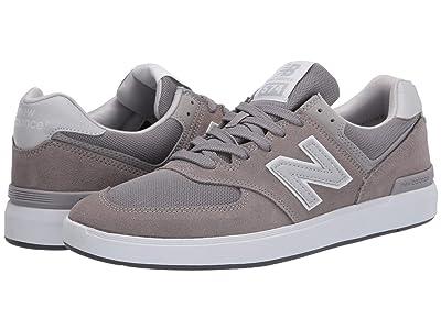 New Balance Numeric AM574 (Grey/Grey) Skate Shoes