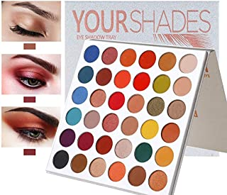 MAYCREATE® Beauty Glazed 36 Colors Make up Palette Glitters Eye Make Up, Make up Palette Eyeshadow Highly Pigmented for Proffesional And Home Makeup 9 Shimer+27 Matte Shades