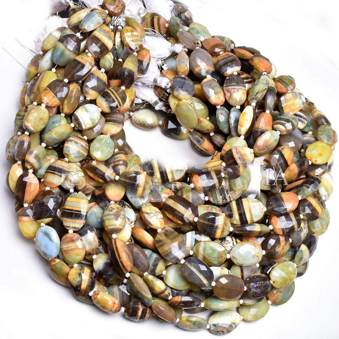 Shree Narayani AAA Quality Ranking TOP1 Boulder Loose Beads 11x14 sale Strand Opal