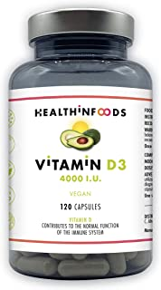 Vitaminas D3-Healthinfoods- Alta dosis: 4000 UI