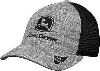John Deere Memory Fit - Space Dye Cap-Black-Os
