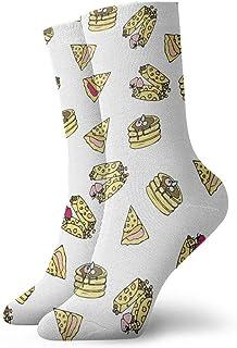 not applicable Patrón Calcetines para Hombre Vestido de la Torta de Pizza Paquete Hot Dog Divertidos de poliéster Calcetines