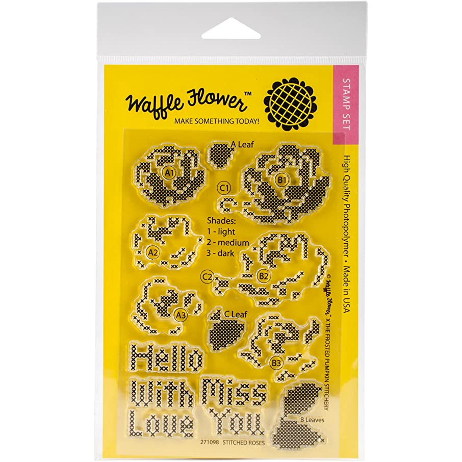 Waffle Flower Crafts Clear Stamps, Multi-Colour, 12.7 x 22.86 x 0.38 cm