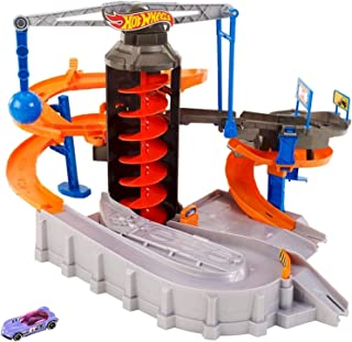 Hot Wheels Mattel Construction Zone Chaos Track Set