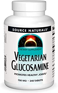 Source Naturals Vegetarian Glucosamine, Promotes Healthy Joints 750 Mg Tablet - 240 Count