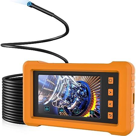 Industrie Endoskopkamera Kzyee Kz2000 5 5mm Endoskop Mit 4 3 Zoll Ips Bildschirm 1080p Inspektionskamera Mit 6 Led Licht 2800mah Rohrkamera 8g Tf Karte 10m Gewerbe Industrie Wissenschaft