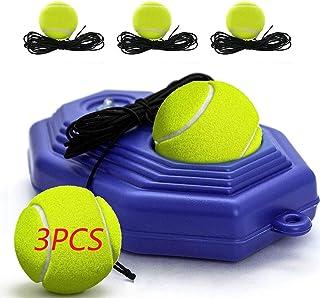 Tennis Trainer丨Tennis Ball Machine Portable丨Tennis Trainer Rebound Ball丨Tennis Rebounder, Tennis Machine丨Tennis Practice Equipment丨Tennis Practice Rebounder丨Solo Tennis Trainer with 3 String Balls
