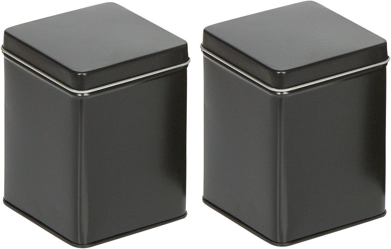 mikken 2 Portland Mall Spring new work Schwarze Teedosen für 100g. Vorratsdosen -Gewürzdosen