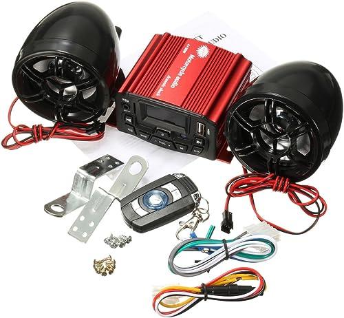 Wooya 12V Audio Remote Control Sound System Motorrad Lautsprecher SD USB Mp3