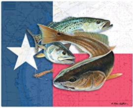 "Magic Slice Texas Flag & Bully by Steve Whitlock Non-Slip Flexible Cutting Board, 12"""" x 15"""""