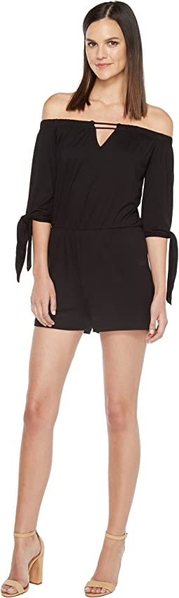 Culture Phit - Ripley Off the Shoulder Keyhole Romper