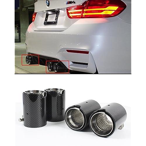 Brand New Genuine BMW F80 F82 F83 F87 M2 M3 M4 Black Chrome Exhaust Tips x 4