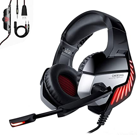 Onikuma PS4Headset, cuffie da gioco per Xbox One, PC, stereo Surround Gaming cuffie, morbido paraorecchie RAM, antirumore, Nintendo interruttore (nero, luce LED blu) nero Nero - Trova i prezzi più bassi