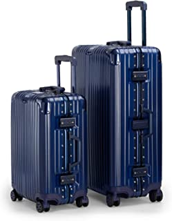 Kenza Pebble Aluminium Frame Ultra-Light Hardside Expandable, Built-In TSA Lock, Zipperless Luggage with Spinner Wheels