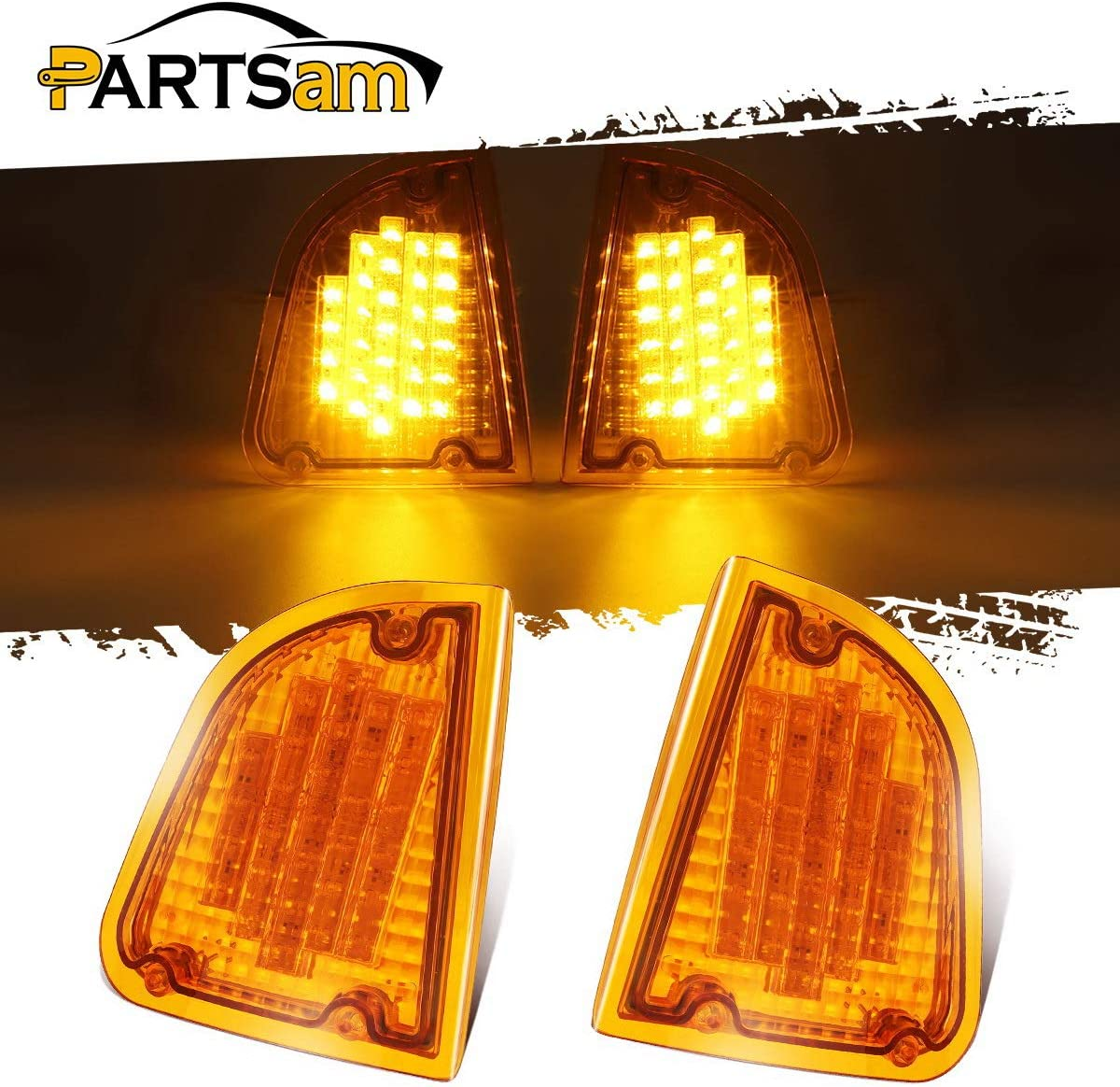 Partsam 29 Amber LED Front 優先配送 P T お金を節約 Assembly Replacement for Light C