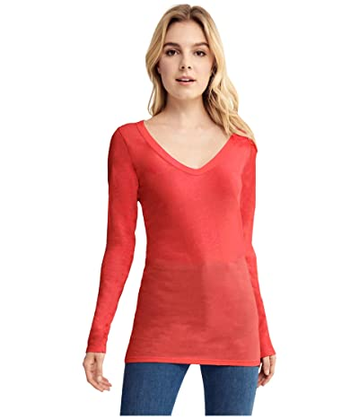 LAmade Fitted V-Neck Tee (American Beauty) Women