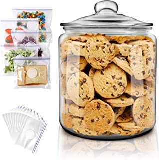 Glass Jar 1G Large-Capacity Sealed Container Easy to Store Food and Make Medicinal Liquor Etc - Send 15pc Food Storage Bag...