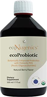 EcoProbiotic Probiotic and Prebiotic with 19 Digestive Herbs - Microbiome and Gut Health - Live Fermented Liquid Vegan Sup...