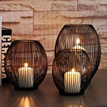 Fenteer Pack of 3 Metal Wire Candlestick Candle Holder for Wedding, Party, Home, Spa Decoration