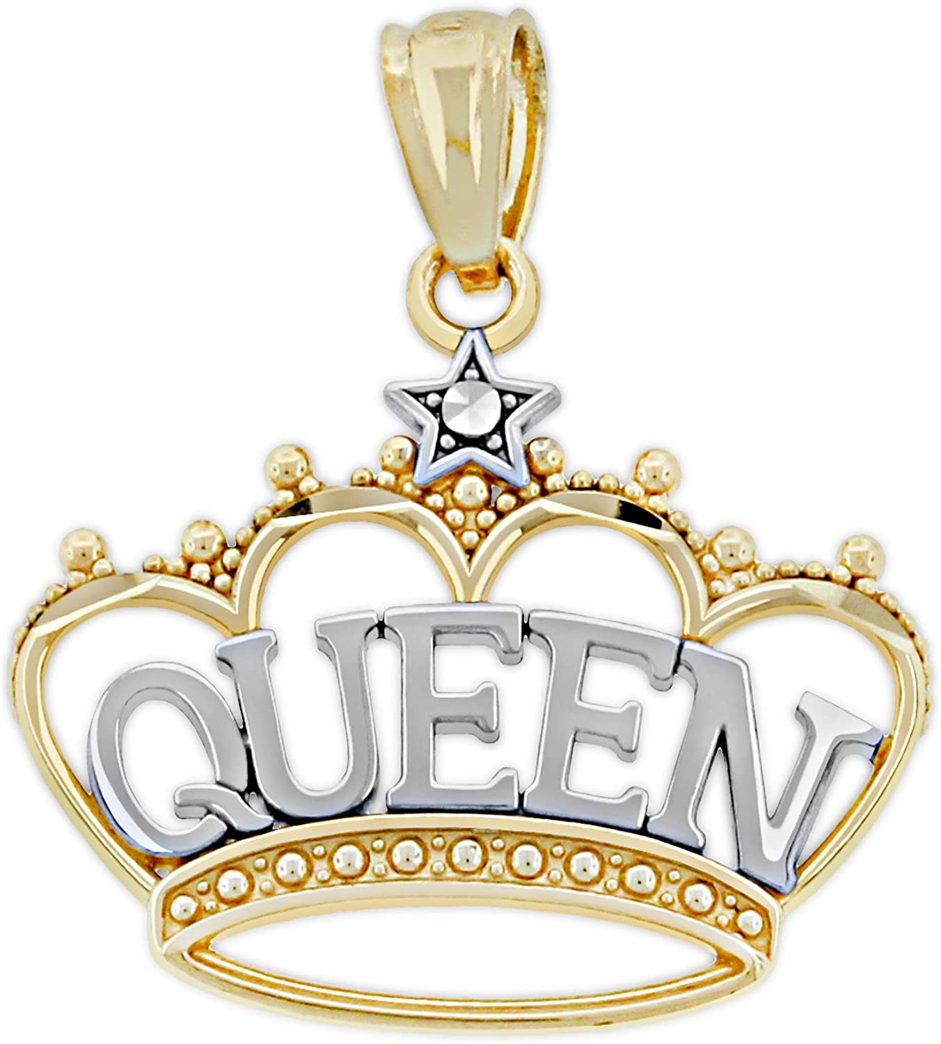 Charm America - Gold Max 62% Sale special price OFF Queen inside 10 Karat Solid Tiara G