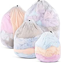 MCleanPin Mesh Laundry Bags for Delicates with Drawstring,4 Pcs Clothing Laundry Liners, Machine Washing Bags for Laundry,...