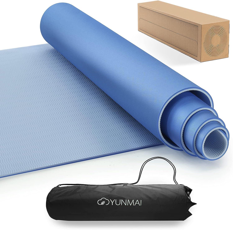 YUNMAI Yogamatte rutschfest, TPE Gymnastikmatte Sportmatte Übungsmatten  Hautfreundliche Fitnessmatte Trainingsmatte Matte Zuhause Sport für Yoga,  ...