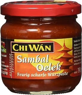 Chi Wán Sambal Oelek - Feurig scharfe Würzpaste aus Pfefferonen Glas, 190 g