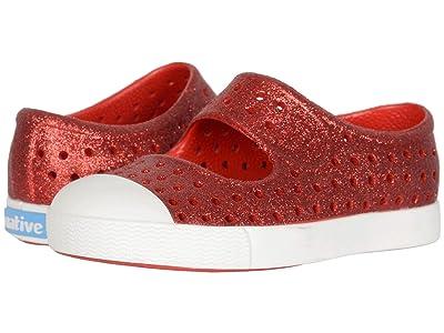 Native Kids Shoes Juniper Bling (Toddler/Little Kid) (Torch Bling/Shell White) Girls Shoes