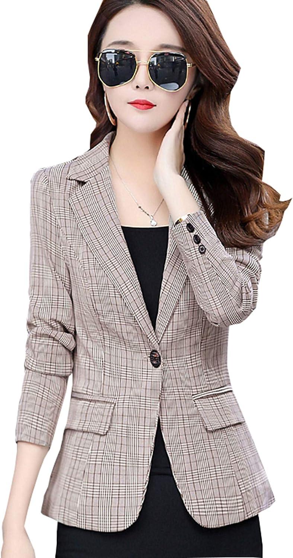 My Wonderful World Women's Long Sleeve Welt Pocket Split Open Front Tuxedo Suits