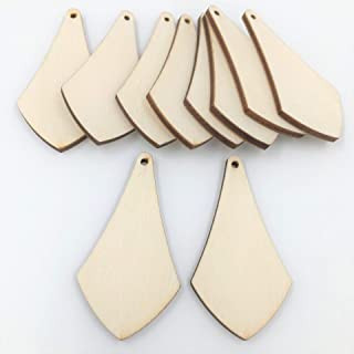 Unfinished Wood Triangle Dangle Earring Blanks 2