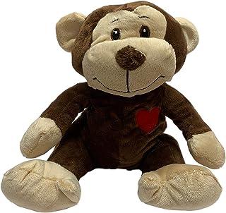 Valentines Day Owen Monkey 25cm with Red Heart Valentine's Day Gift Soft Plush Toy