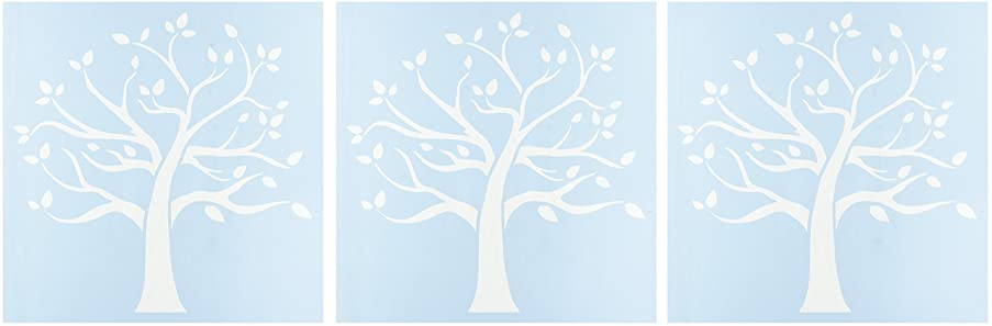 CLEARSNAP Clear Scraps CSSM12-FMTRE Family Tree Stencils, 12 by 12 (3 Pack)