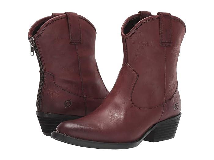Born  Wynd (Burgundy Full Grain Leather) Womens  Boots