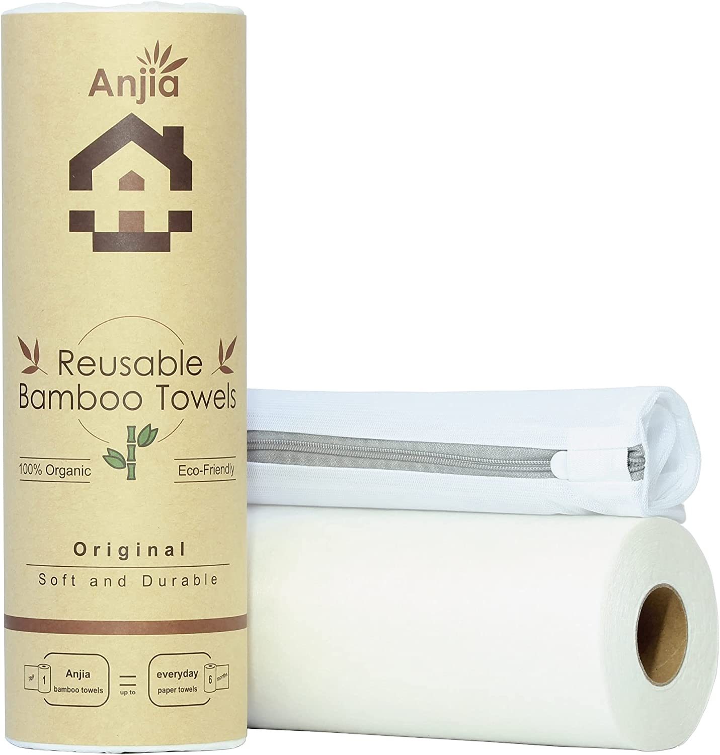 Anjia Original Reusable Bamboo Towels - Wash 50 Shipping included Attention brand In Bag A Sheets