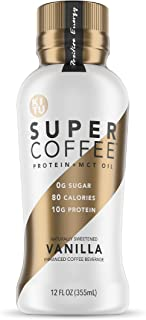 Kitu Super Coffee, SugarFree Keto Coffee (0g Added Sugar, 10g Protein, 80 Calories) [Vanilla] 12 Fl Oz, 12 Pack | Iced Cof...