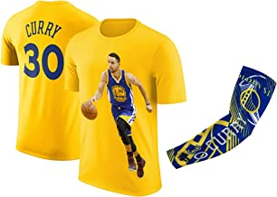 Steph Curry Jersey Style T-Shirt Kids Curry Yellow T-Shirt Gift Set Youth Sizes
