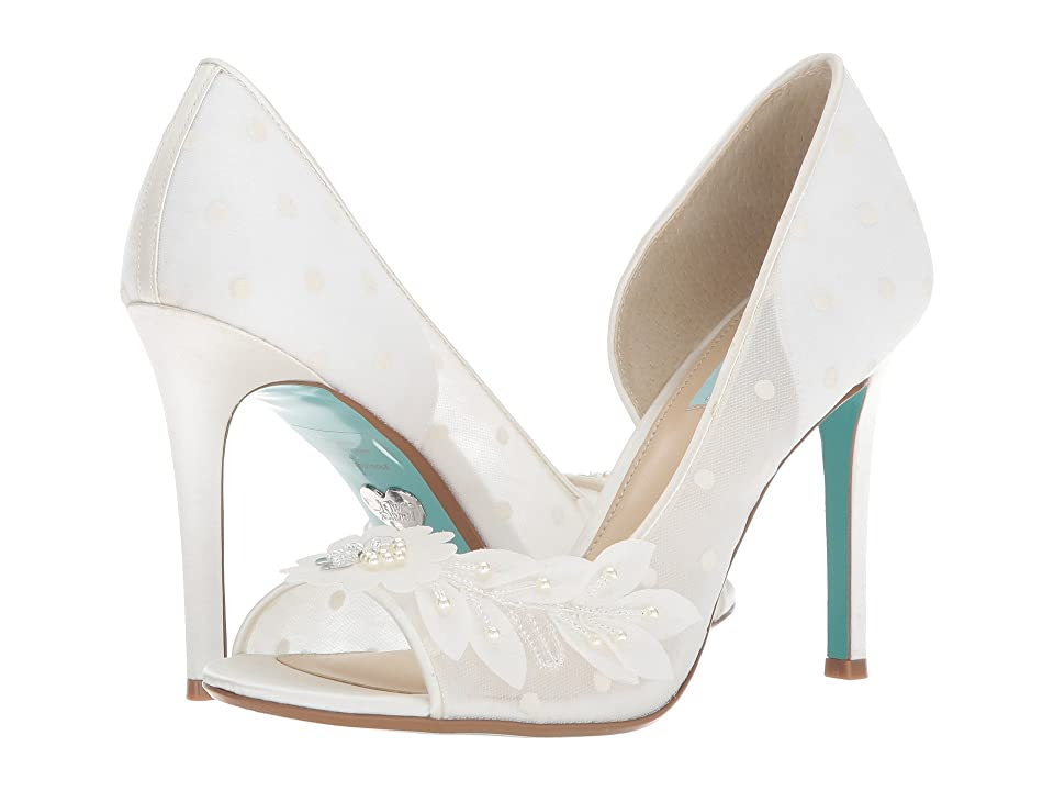 Blue by Betsey Johnson Anise (Ivory Satin) High Heels