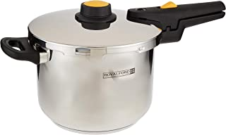 Royalford Induction Pressure Cooker, 6L, Stainless Steel