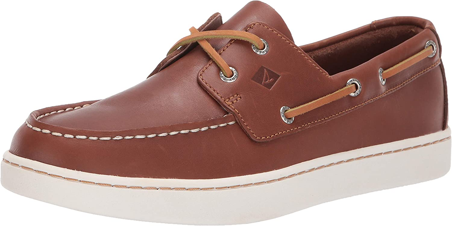 Sperry Herren Stiefelschuhe STS18791 Cup 2-Eye Leather Leder TAN Braun
